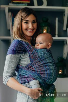 Baby Wrap, Jacquard Weave (100% cotton) - BIG LOVE - SAPPHIRE - size S