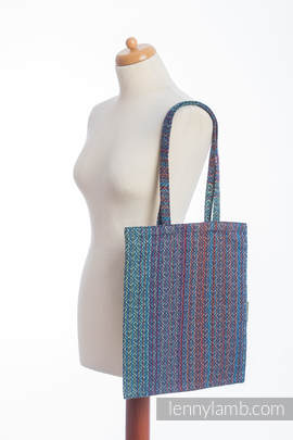 Shopping bag made of wrap fabric (100% cotton) - BIG LOVE - SAPPHIRE