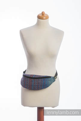 Waist Bag made of woven fabric, (100% cotton) - BIG LOVE - SAPPHIRE