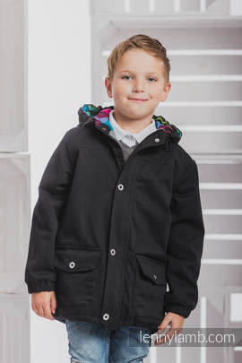 Parka Coat for Kids - size 116 - Black & Diamond Plaid