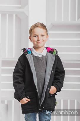 Parka Coat for Kids - size 110 - Black & Diamond Plaid