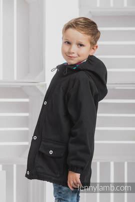 Parka Coat for Kids - size 122 - Black & Diamond Plaid