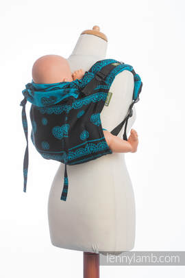 Lenny Buckle Onbuhimo, standard size, jacquard weave (100% cotton) - Wrap conversion from DIVINE LACE