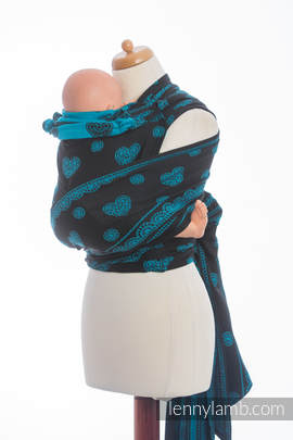 WRAP-TAI carrier Mini with hood/ jacquard twill / 100% cotton / DIVINE LACE