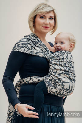 Baby Wrap, Jacquard Weave (100% cotton) - TIGER BLACK & BEIGE 2.0 - size M