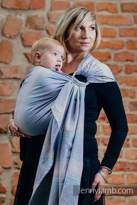 Ringsling, Diamond Weave (100% cotton) with gathered shoulder - DIAMOND ILLUSION LIGHT (grade B)