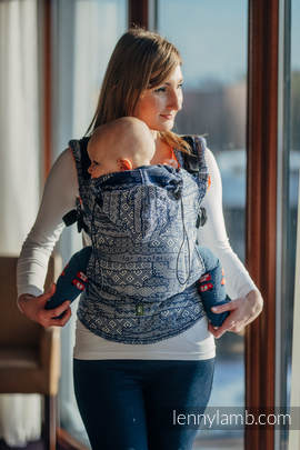 Ergonomic Carrier, Toddler Size, jacquard weave 100% cotton - wrap conversion from FOR PROFESSIONAL USE EDITION - ENIGMA 2.0, Second Generation
