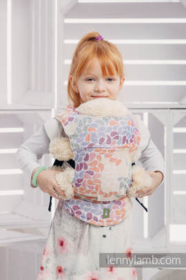 Doll Carrier made of woven fabri, 100% cotton  - COLORS OF LIFE (grade B)