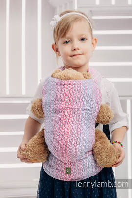 Doll Carrier made of woven fabric (100% cotton) - LITTLE LOVE - HAZE