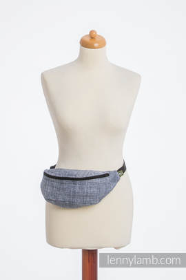 Waist Bag made of woven fabric, (100% cotton) - DENIM BLUE