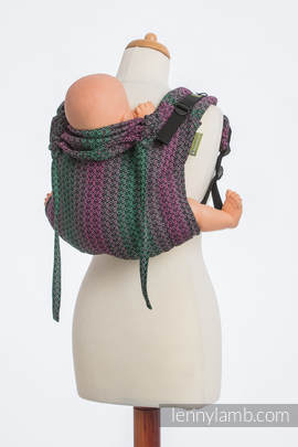 Lenny Buckle Onbuhimo, standard size, jacquard weave (100% cotton) - Wrap conversion from LITTLE LOVE ORCHID