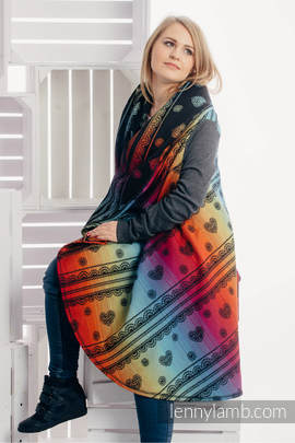 Long Cardigan - plus size - Rainbow Lace Dark (grade B)