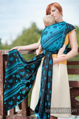 Baby Wrap, Jacquard Weave (100% cotton) - DIVINE LACE - size XL