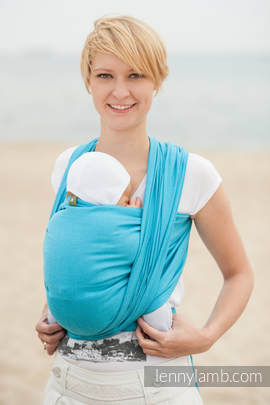 Baby Sling, Diamond Weave, 100% cotton - Turquoise Diamond - size L