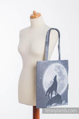 Einkaufstasche, hergestellt aus gewebtem Stoff (100% Baumwolle) - MOONLIGHT WOLF