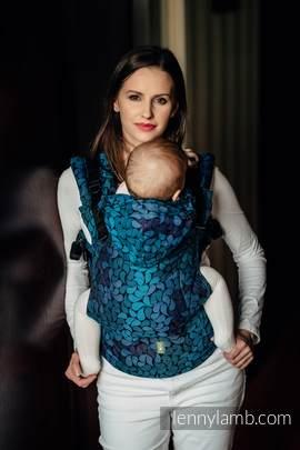 Nosidełko Ergonomiczne z tkaniny żakardowej 100% bawełna , Toddler Size, KOLORY NOCY - Druga Generacja