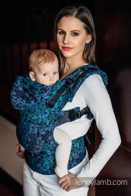 Nosidełko Ergonomiczne z tkaniny żakardowej 100% bawełna , Baby Size, KOLORY NOCY - Druga Generacja