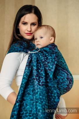 Ringsling, Jacquard Weave (100% cotton) - with gathered shoulder - COLORS OF NIGHT (grade B)