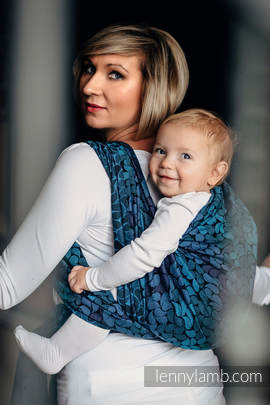 Baby Wrap, Jacquard Weave (100% cotton) - COLORS OF NIGHT - size L (grade B)