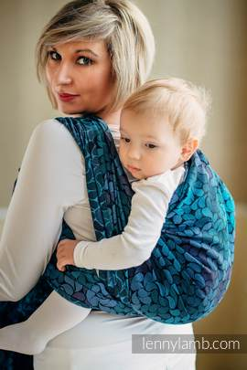 Baby Wrap, Jacquard Weave (100% cotton) - COLORS OF NIGHT - size S (grade B)