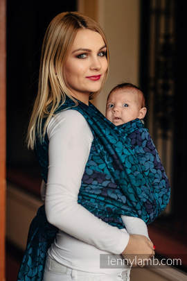 Baby Wrap, Jacquard Weave (100% cotton) - COLORS OF NIGHT - size M (grade B)