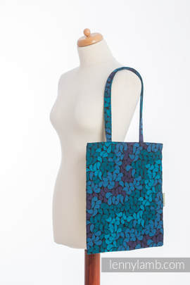 Shopping bag made of wrap fabric (100% cotton) - COLORS OF NIGHT (grade B)