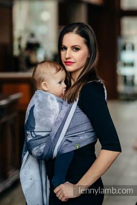 Baby Wrap, Jacquard Weave (100% cotton) - MOONLIGHT WOLF - size M (grade B)