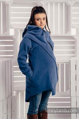 Asymmetrical Fleece Hoodie for Women - size S - Blue