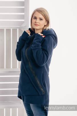 Asymmetrical Fleece Hoodie for Women - size M - Navy Blue (grade B)