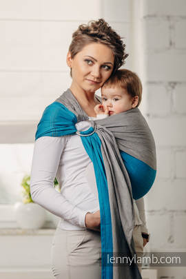 Basic Line Ring Sling - SODALITE - 100% Cotton - Broken Twill Weave -  with gathered shoulder