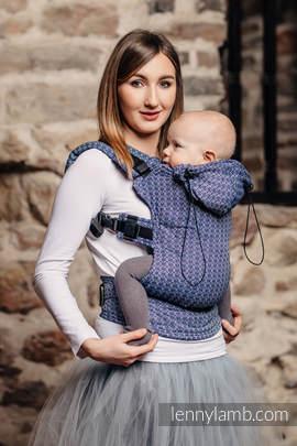 Nosidełko Ergonomiczne z tkaniny żakardowej, 60% bawełna, 40% bambus , Baby Size, LITTLE LOVE - AQUA, Druga Generacja