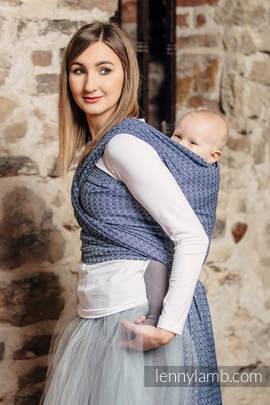 Baby Wrap, Jacquard Weave (60% cotton, 40% bamboo) - LITTLE LOVE - AQUA - size L