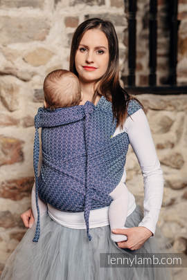 WRAP-TAI carrier Toddler with hood/ jacquard twill / 60% cotton, 40% bamboo / LITTLE LOVE - AQUA