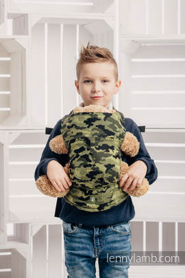 Doll Carrier made of woven fabric (100% cotton) - GREEN CAMO