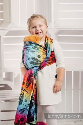 Doll Sling, Jacquard Weave, 100% cotton - DRAGONFLY RAINBOW DARK