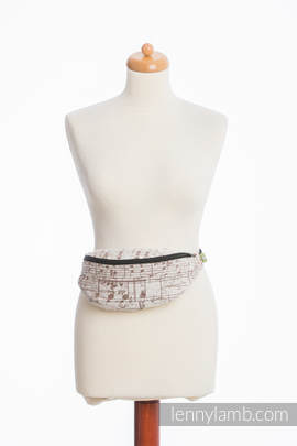 Waist Bag made of woven fabric, (100% cotton) - SYMPHONY CREME & BROWN
