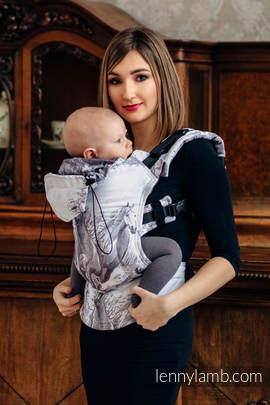 Ergonomische Tragehilfe, Größe Baby, Jacquardwebung, 100% Baumwolle - GALLOP - Zweite Generation