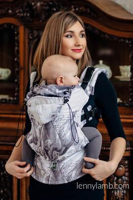 Ergonomische Tragehilfe, Größe Toddler, Jacquardwebung, 100% Baumwolle - GALLOP - Zweite Generation