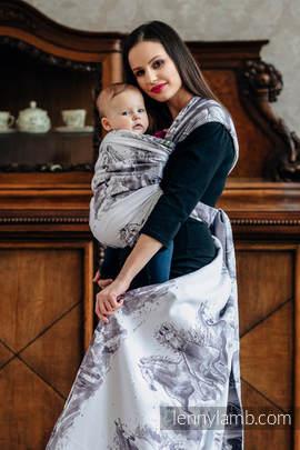 Baby Wrap, Jacquard Weave (100% cotton) - GALLOP - size XS