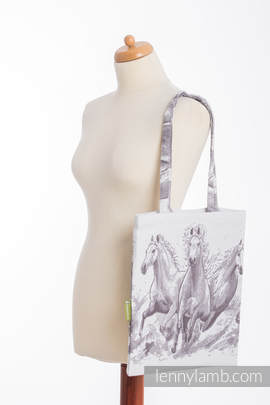Shopping bag made of wrap fabric (100% cotton) - GALLOP
