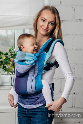 Ergonomic Carrier, Baby Size, diamond weave 100% cotton - wrap conversion from FINNISH DIAMOND - Second Generation