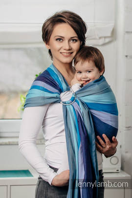 Ringsling, Diamond Weave (100% cotton), with gathered shoulder- Finnish Diamond (grade B)