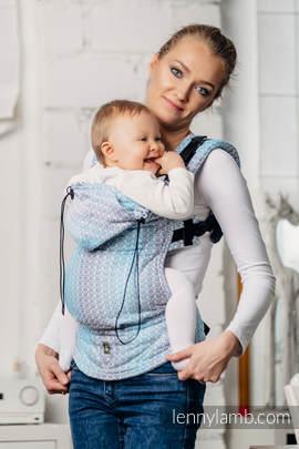 Nosidełko Ergonomiczne z tkaniny żakardowej 100% bawełna , Toddler Size, LITTLE LOVE - BRYZA, Druga Generacja
