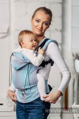 Nosidełko Ergonomiczne z tkaniny żakardowej 100% bawełna , Baby Size, LITTLE LOVE - BRYZA, Druga Generacja