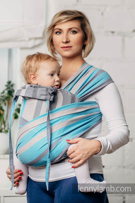 WRAP-TAI carrier Toddler, broken-twill weave - 100% cotton - with hood, MISTY MORNING