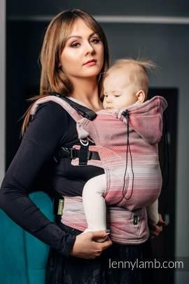 Nosidełko Ergonomiczne , splot jodełkowy, 100% bawełna , Baby Size, MAŁA JODEŁKA ELEGANCJA - Druga Generacja
