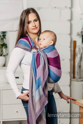Ringsling, Diamond Weave (100% cotton) with gathered shoulder- Norwegian Diamond