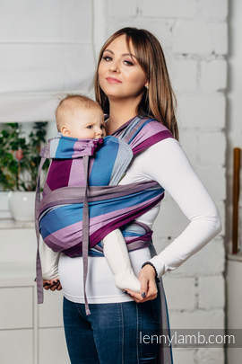 WRAP-TAI carrier Toddler, diamond weave - 100% cotton - with hood, NORWEGIAN DIAMOND