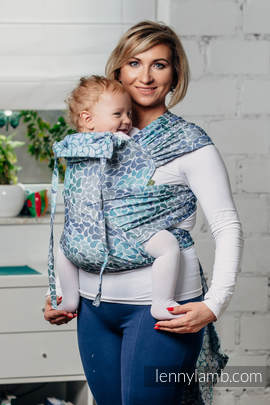 WRAP-TAI carrier Toddler with hood/ jacquard twill / 100% cotton / COLORS OF HEAVEN