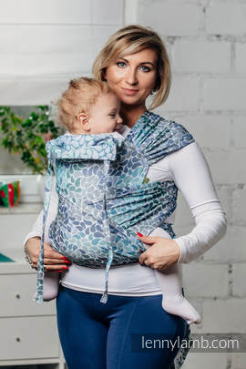 WRAP-TAI carrier Mini with hood/ jacquard twill / 100% cotton / COLORS OF HEAVEN